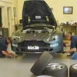Our GT4 Vantage receiving preparation for the GT4 European Cup