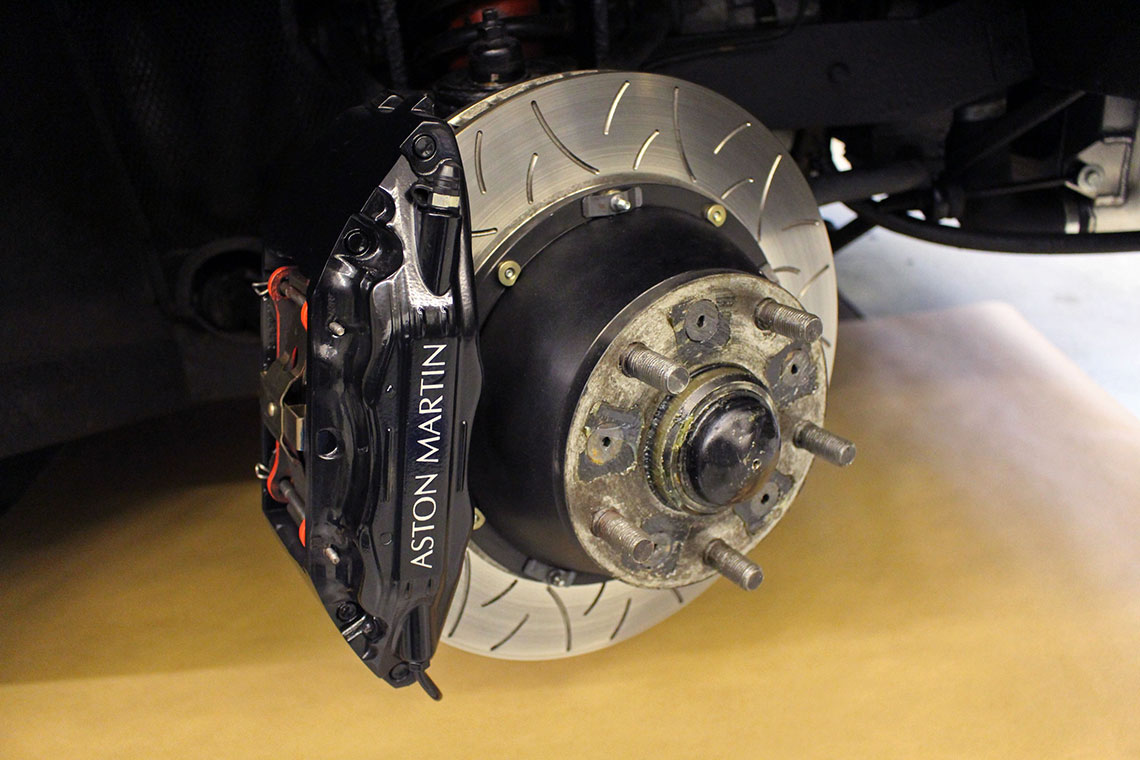 Aston Martin V8 brake upgrade
