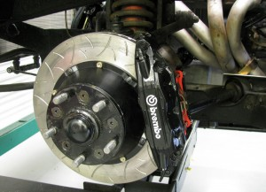 Our Brembo brake upgrade has been fitted.